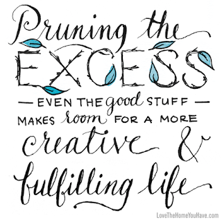Operation Organization by Heidi ( Peachtree City Professional Organizer ) :: Book Review of Love the Home You Have by Melissa Michaels - Prune the Exess to Make Room Quote