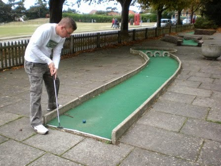 Crazy Golf at Poole Park in Dorset