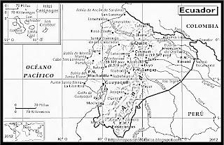 Mapa de ECUADOR, Atlas, blanco y negro