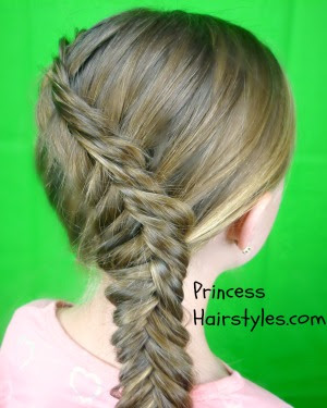 reverse french fishtail braid