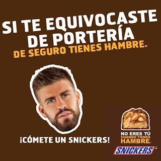 Snickers Gerard Piqué Champions League Advertising Creatividad