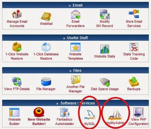 Cara Membuat MySQL and PHPMyAdmin di 000webhost.com