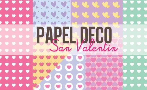 Craftingeek*: Papel deco de Corazones - San Valentin