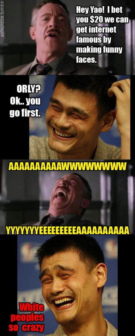 Hey Yao! I bet You $20 We Can Get Internet Famous By Making Funny Faces