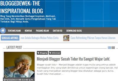 Belajar Mengelola Blog