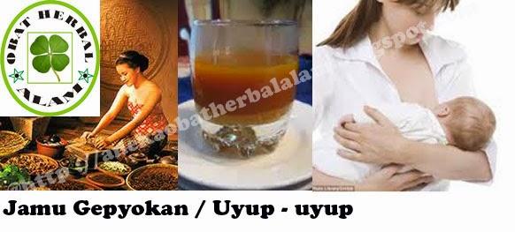 jamu gepyokan, uyup uyup, menyusui, tradisional, minuman herbal, cara membuat
