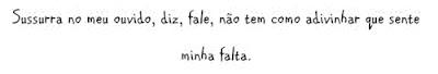 Foto Mensagem de Saudade/Amor/Falta para Compartilhar no Facebook