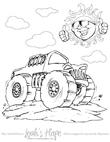 Free Monster Truck Coloring Page