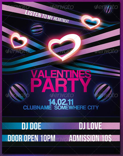 Valentines Party Flyer/Poster