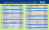 Calendario CAU 2015 (para descargar)