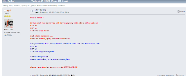Novidades azbox em breve (sks 61w )