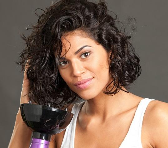 cabelos finos cacheados secador difusor