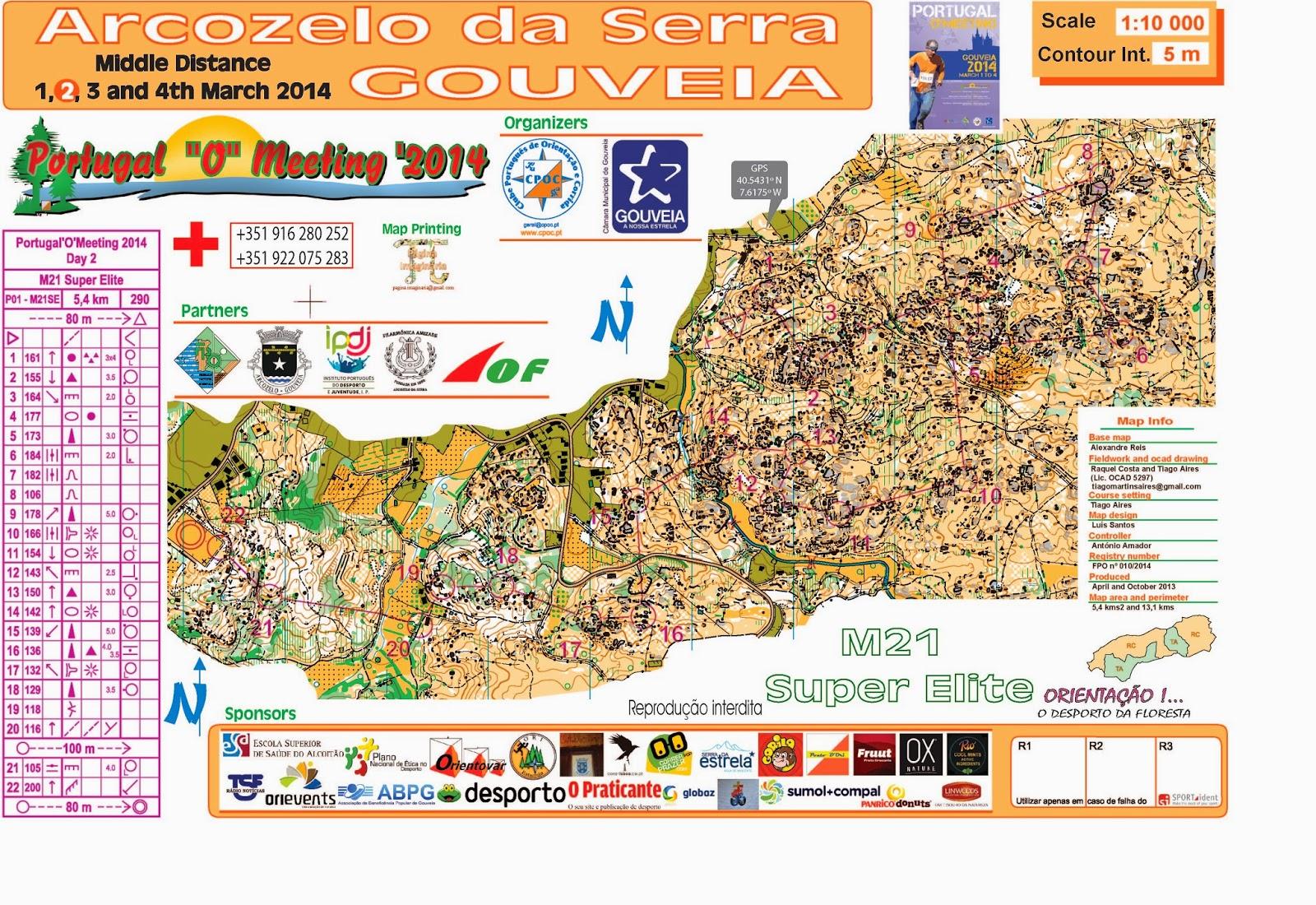 Portuguese Orienteering Blog POM Maps - Portugal map distances