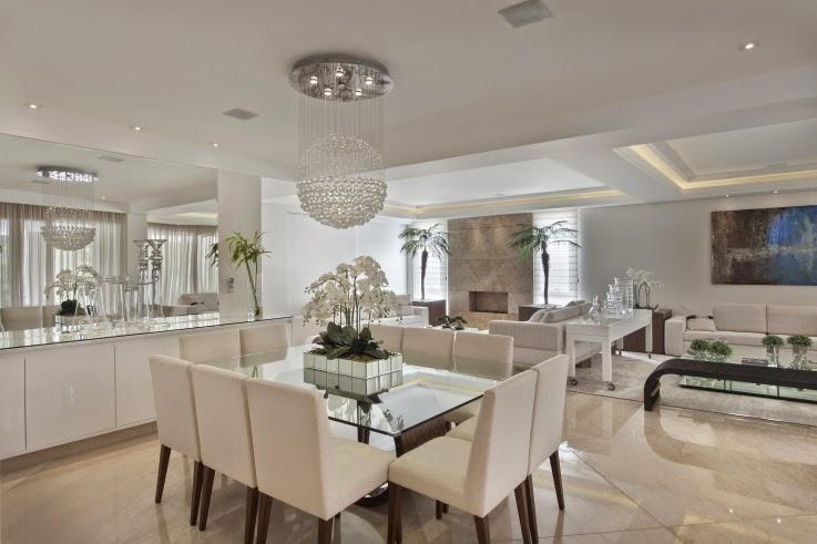 Sala De Jantar Iara Kilaris ~ Casa com arquitetura e decoração contemporânea e clássica  linda