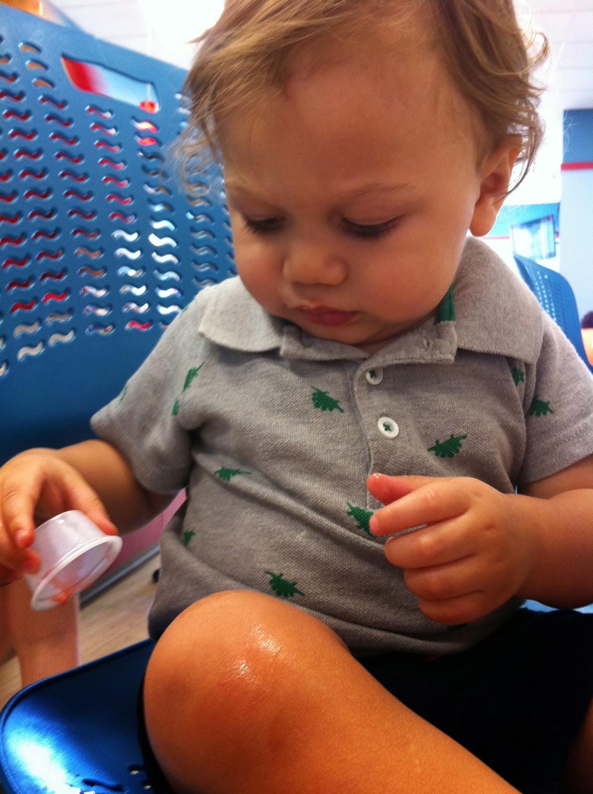 Picture of Sincerely yogurt Charlie spilling on himself