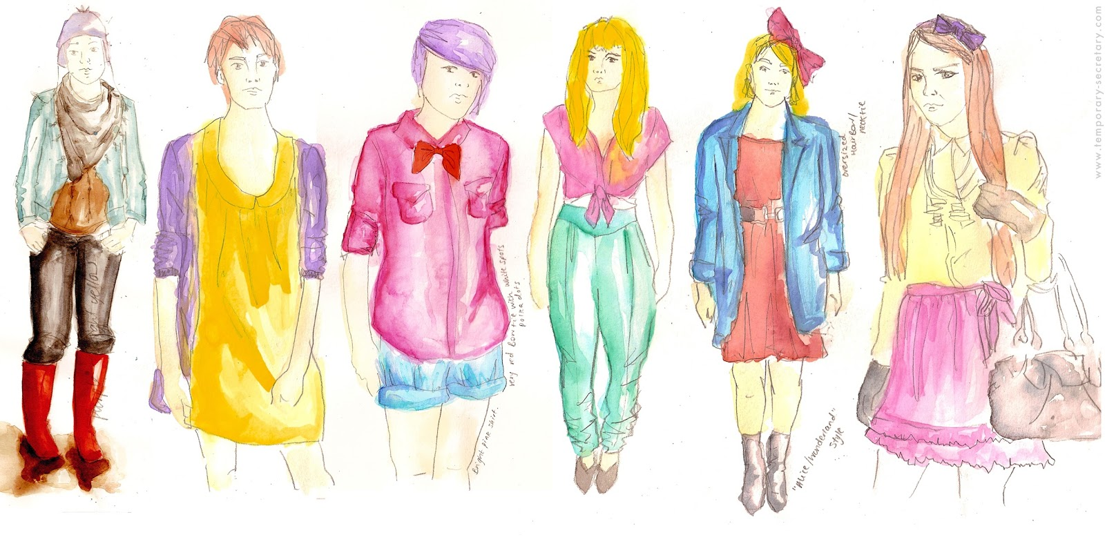 fashion illustration, street style illustration
