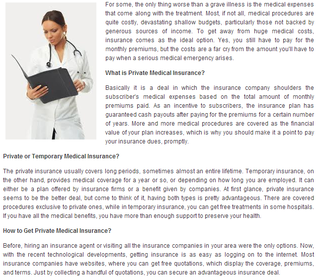 Private Medical Insurance