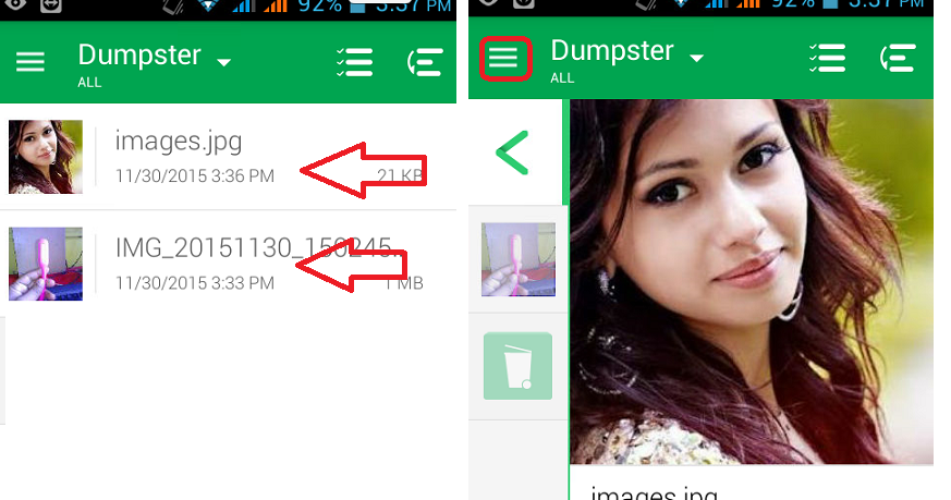 how to get deleted pictures back on android tablet
