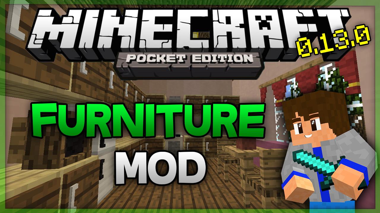 Furniture Mod Igual A Pc Para Minecraft Pe Minecraft Pe Mods
