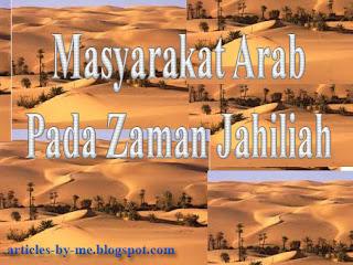 Masyarakat Arab Pada Zaman Jahiliah