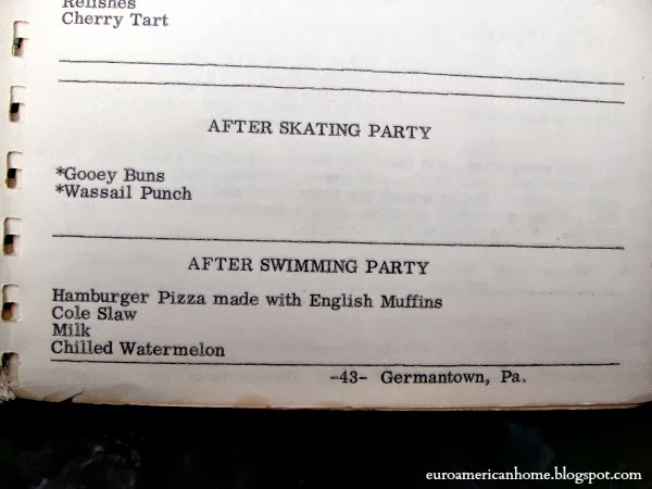 Germanntown Pennsylvania cookbook after swimming party:EuroAmericanHome