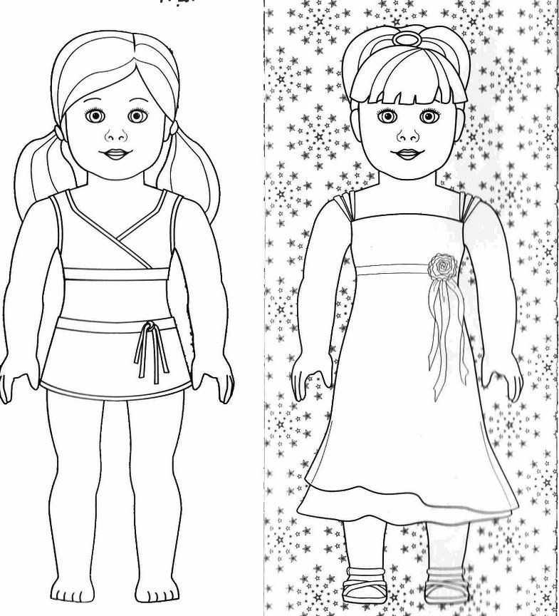 j american girl coloring pages - photo #2