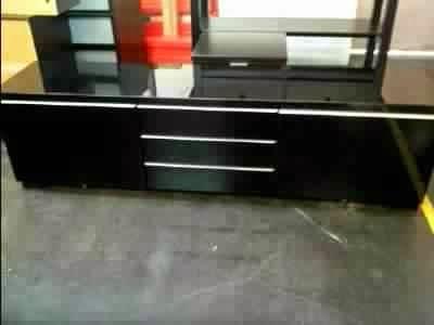 Meuble tv noir ikea meuble tv for Meuble tele noir