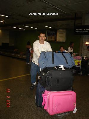 Bagagem no aeroporto de Guarulhos