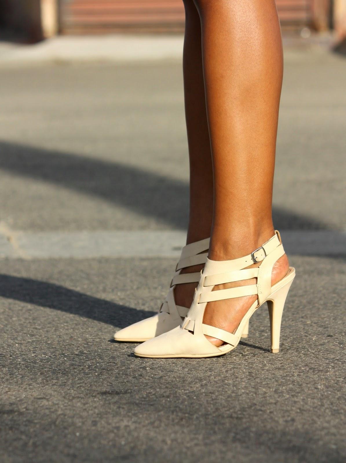Wearing Forever 21 heels