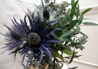 Thistle arrangement by Willow & Bloom    Photo by Patricia Stimac