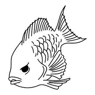 Gambar Tatto on Fish Iv Tatto Black   White Tribal