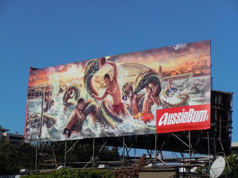AussieBum hydra swimwear billboard WEHO
