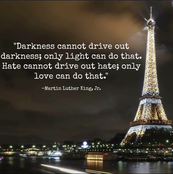 Martin Luther King Jr Quote Paris Terrorist Attacks