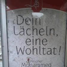Jerman Memakai Hadis Rasul Sebagai Banner Ditempat Umum