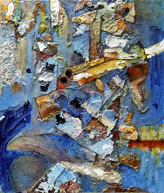 Pasaje, cuadro de técnica mixta obra original de Juan Sánchez Sotelo, de la academia de dibujo y pintura Artistas6 de Madrid. Clases y cursos para aprender a dibujar y pintar. Venta de obra original abstracta y figurativa.