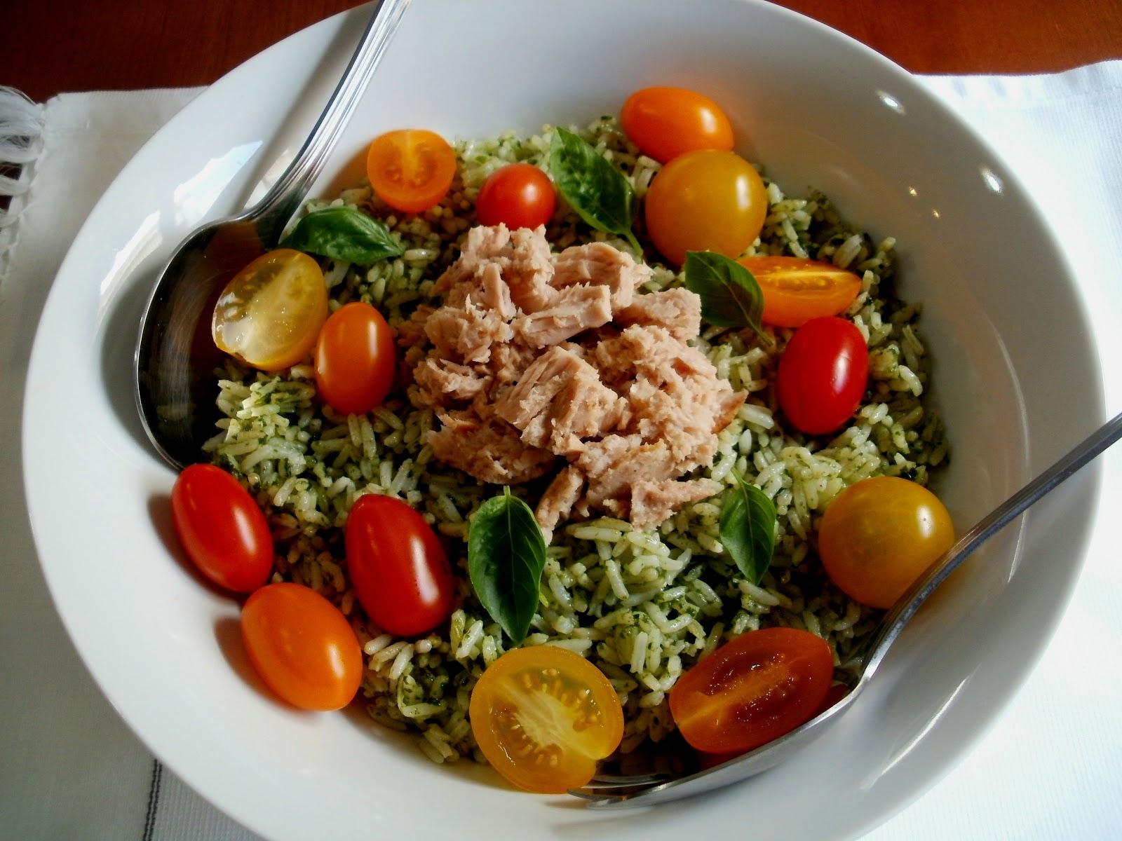 Los antojos de clara ensalada de arroz con albahaca at n - Ensalada de arroz light ...