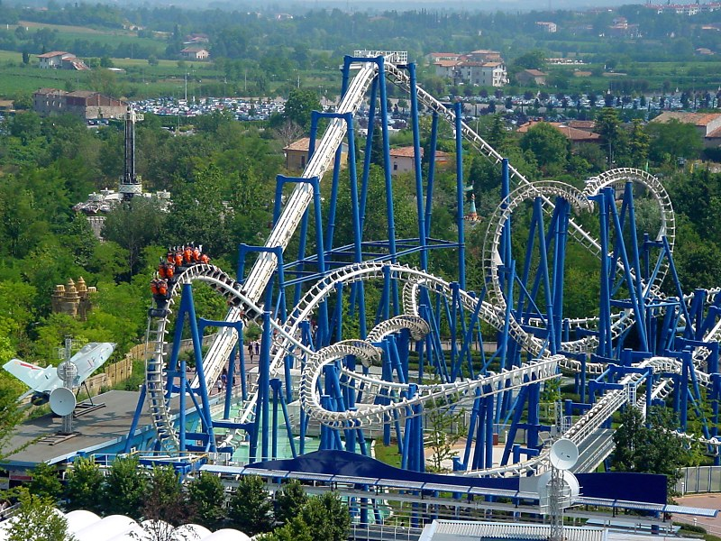 World Visits: Tours of Gardaland in Italy Cool Park View