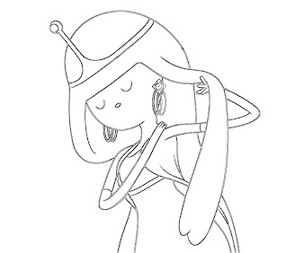 #6 Princess Bubblegum Coloring Page