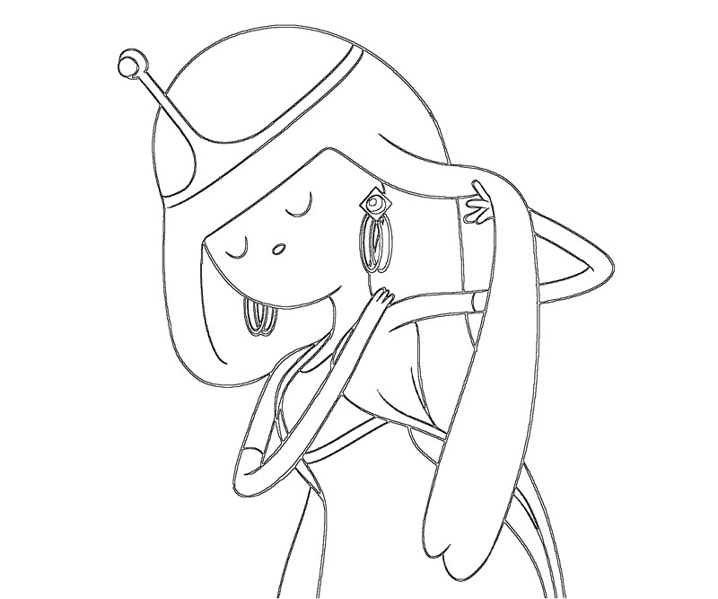 Printable Adventure Time - Princess Bubblegum 7 Coloring Page title=