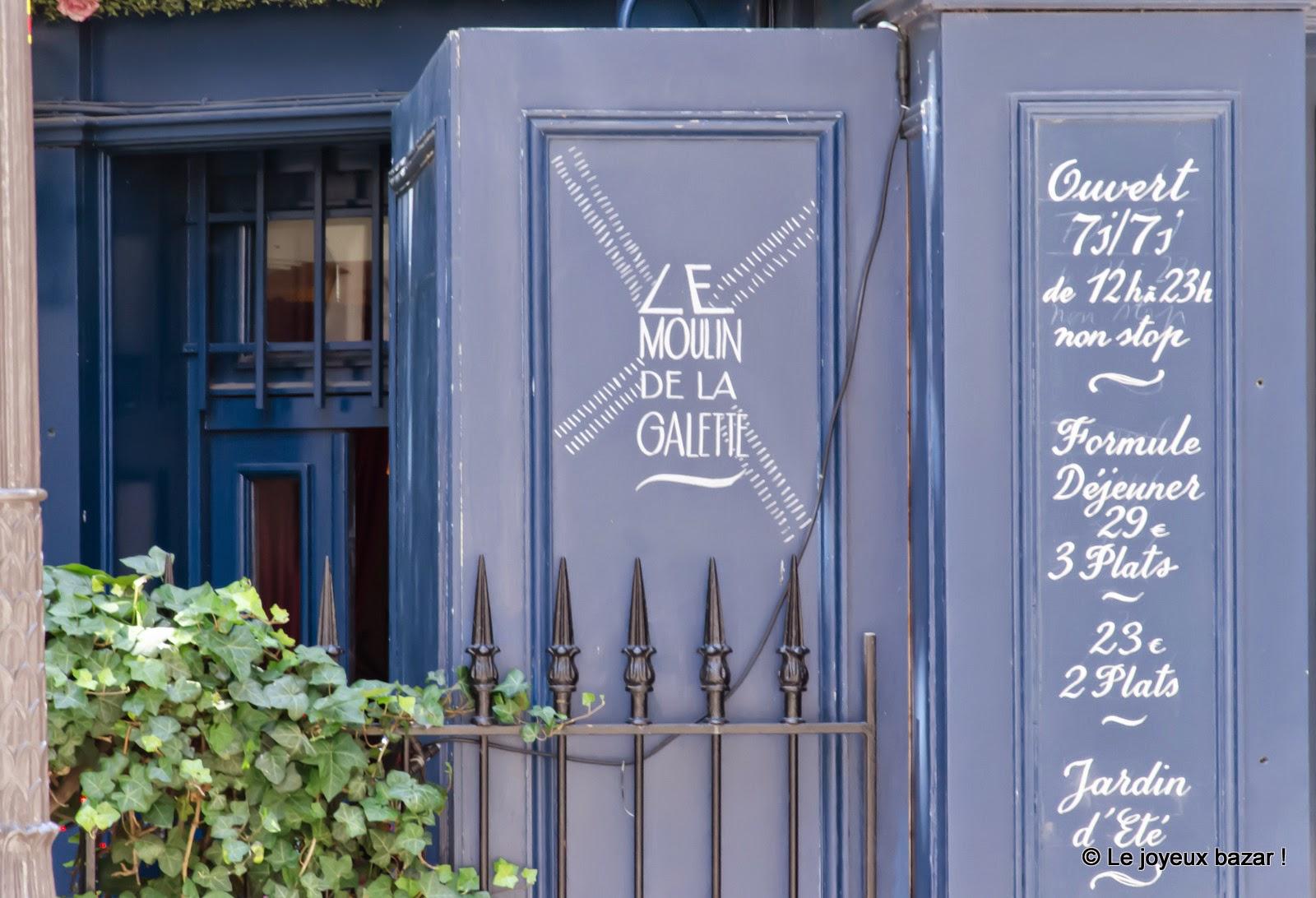 Paris - Montmartre - rue Lepic - Le Moulin de la Galette
