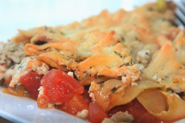 SkinnySkips: Vegan Noodle-less High-Protein Zucchini Lasagna
