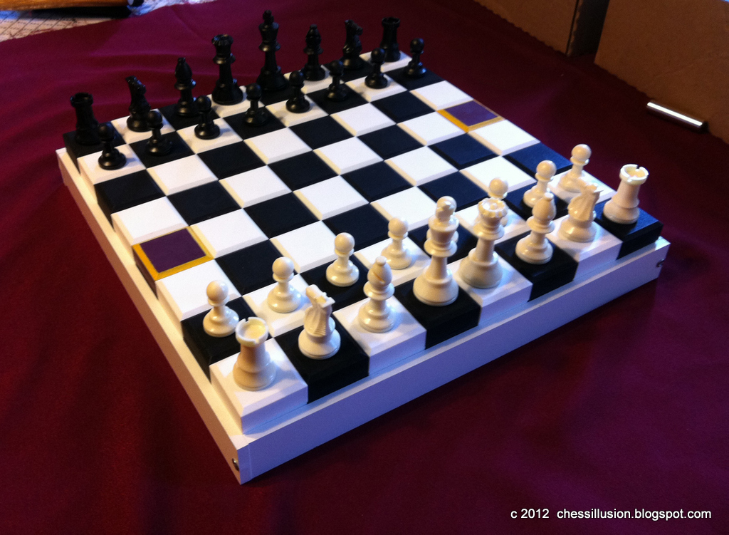 chess illusion chess royal 3d alterable terrain chess