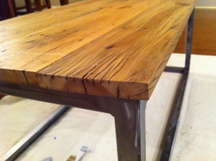 Susan Snyder BARN WOOD COFFEE TABLE - Salvaged wood table top