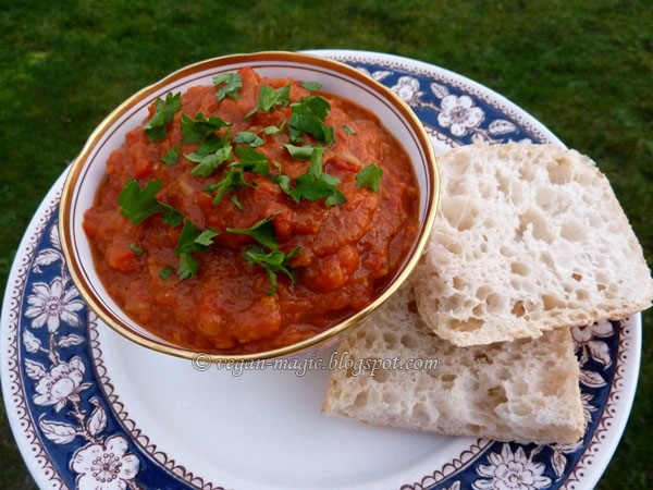 Ajvar - Red pepper and eggplant relish