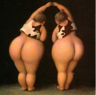 Две толстушки в топиках