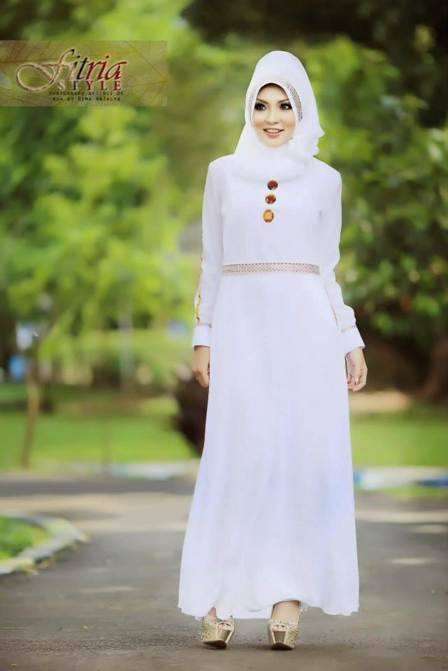 12 Contoh Model Gamis Muslim Lebaran Terbaru Kumpulan