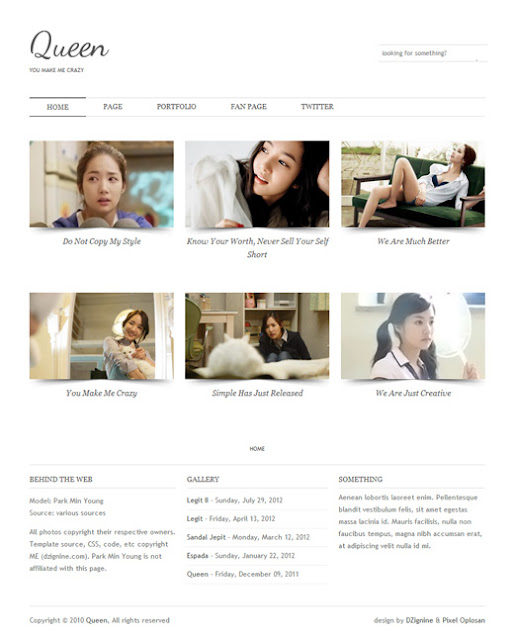 Blogger template Queen Free Download