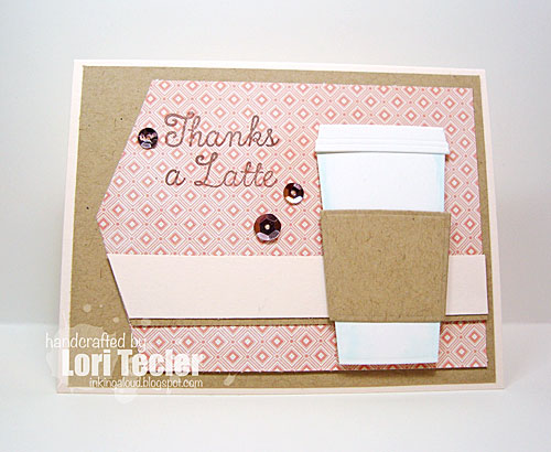 Thanks a Latte card-stamps and dies from My Favorite Things
