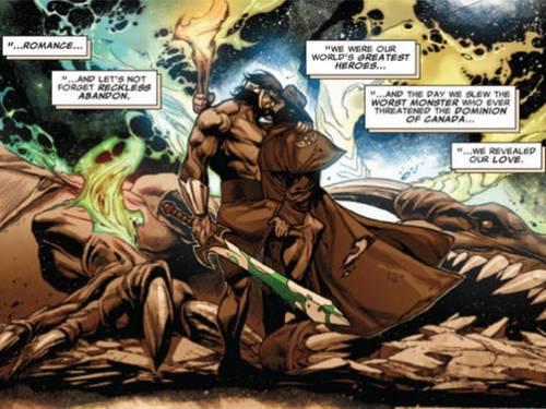 Wolverine e o semideus Hércules (Foto: Reprodução)