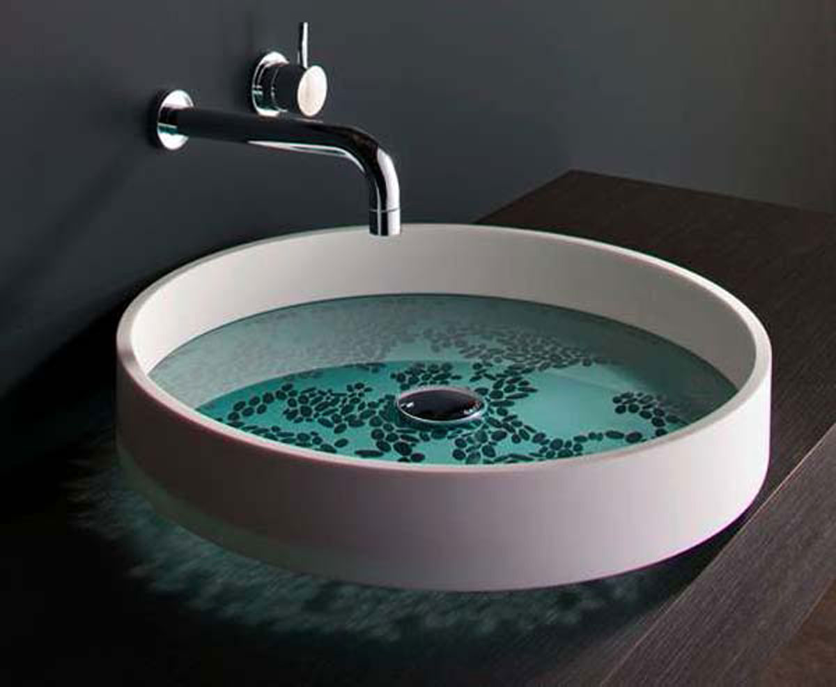 Modern wash basin designs aesthetic nice surface painting for Latest bathroom sink designs
